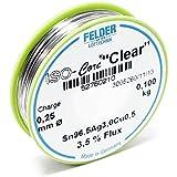 """Felder Fil de Soudure Iso-Core """"Clear"""" 0.25mm 0.1kg SAC305 Sn96.5Ag3Cu0.5"""