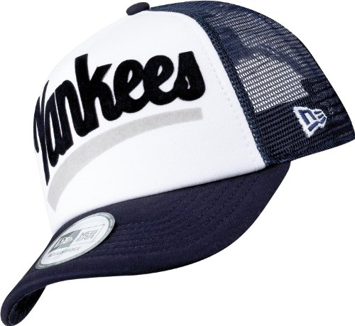 NEW ERA - Cappellino con visiera, degli New York Yankees, Blu (BLUE/OSFA), ONE SIZ FITS MOST