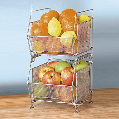 System-Küchenkorb,stapelbar,1 Stück (Korb Für Zwiebel Und Kartoffel)