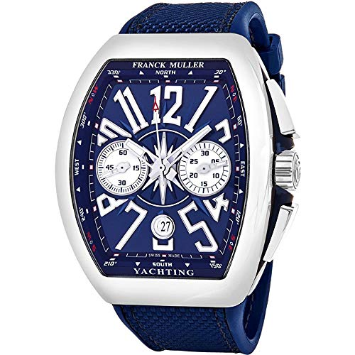 Franck Muller Vanguard Yachting Herren-Armbanduhr Blau Automatik 45CCYACTBLU