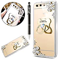 Huawei P10 Plus Hülle,SainCat Mirror Effect Soft TPU Case Spiegel Gold Silikon Hülle Luxus Bling Glänzend Glitzer... preisvergleich bei billige-tabletten.eu