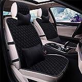 EXQUILEG Premium Auto Sitzauflage aus Plüsch,Sitzschoner mit universeller...