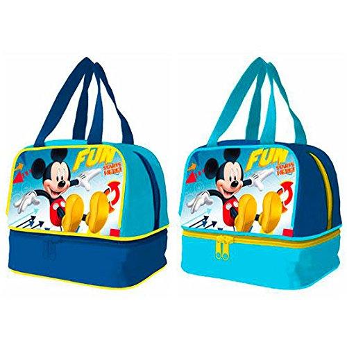 Disney mickey mouse. Portamerienda Tasche Mickey Disney Spaß beginnt; Unterseite der Tasche.