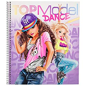 Depesche- Libro para Colorear TOPModel Dance, Aprox. 25,5 x 29 x 1,5 cm. (10959)
