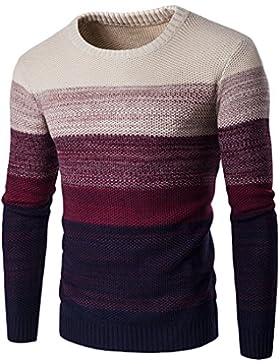 QIN&X La moda masculina suéter suéter color degradado aleta puente de tejer