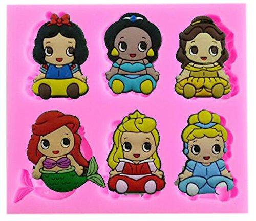 Baby Disney Prinzessinnen Silikon Form-Fondant, Schokolade, Craft