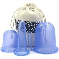 Clairty - Juego de copas de silicona para masaje facial anticelulitis y ventosaterapia