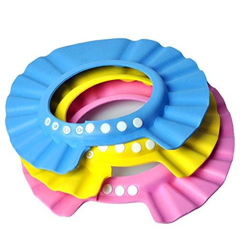 eqlefr-3pcs-lot-baby-hat-toddler-kids-shampoo-bath-shower-cap-wash-hair-shield-direct-visor-caps-for