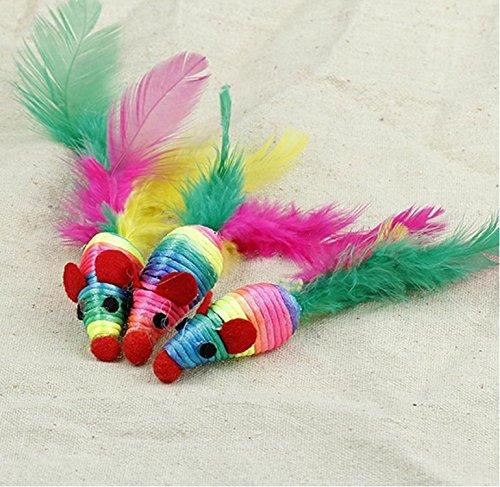 Honeysuck gatto domestico creativo corda intrecciata mouse Chew Toy
