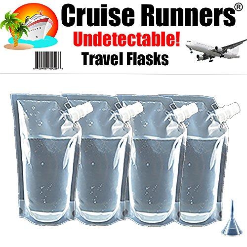 Cruise Läufer Marke Schiff Kit Fläschchen Schleichen Alkohol Runner Rum-Likör Schmuggeln Booze (4x 32Oz + Travel Trichter)