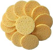 Tenghoda 25 Pieces Facial Sponge, Cellulose Facial Cleansing Brush, Disposable Makeup Sponge