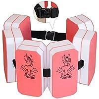Hudora 76220 Swim - Cinturón de natación, color negro, rosa, blanco