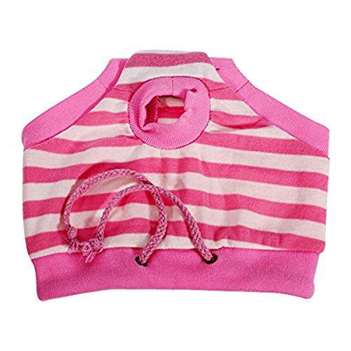 Jooks weiblich Puppy Hund hygienisch Hose Kurze Hose Pet Sanitär Windel Windel Panty für kleine Hunde Pink und Weiß Streifen Gr. M -