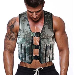 Gewicht-Westen, 20kg Verstellbare Gewichtsweste in Tarnfarben für Gewichtsverlust, Laufen, Training, Fitness