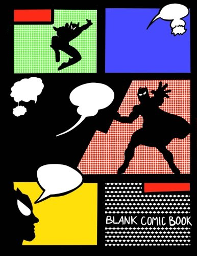 Blank Comic Book;Create Your Own Comic Book;Kids Comic Drawing Book: 100+ Blank Comic Book Layout Pages For Drawing;Draw and Write Journal/Blank Comic Strip Book For (Girl Superhelden Cool)