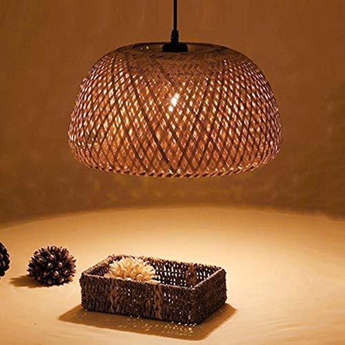 TD Chandeliers TONGDAUS Dekoration Kreative Einfache Persönlichkeit Schlafzimmer Wohnzimmer Esszimmer Bambus Reben Weben Kronleuchter led licht Nacht Kronleuchter (Farbe : AC 220V, Größe : Beige) -