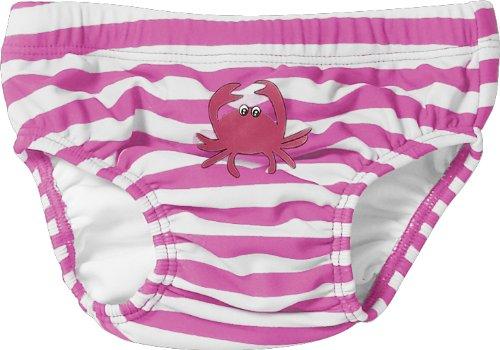 Playshoes Baby - Mädchen Schwimmbekleidung, gestreift 460100 Windelhose / Badehose Krebs von Playshoes mit höchstem UV-Schutz nach Standard 801 und Oeko-Tex Standard 100, Gr. 62/68, Mehrfarbig (900 original)