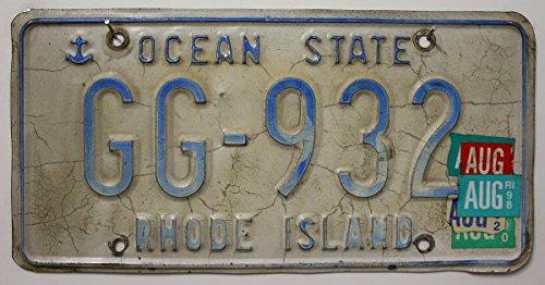 USA Nummernschild RHODE ISLAND ~ US Kennzeichen License Plate ~ Blechschild