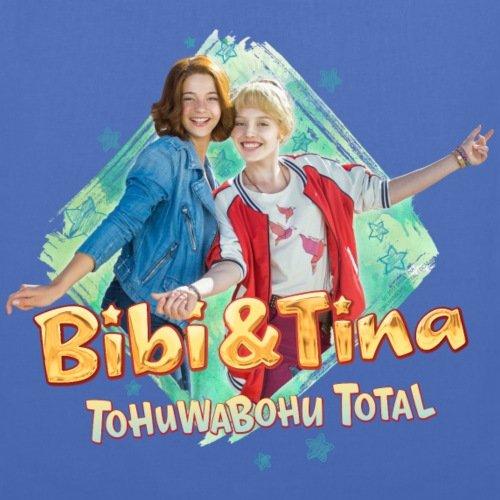 Spreadshirt Bibi E Tina Tohuwabohu Totalmente Fidanzate Borsa Di Stoffa Azzurra