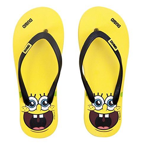 Arena spongebob ciabatte, unisex bambini, giallo, 35