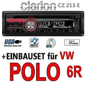 Vw Polo 6r Clarion Cz215e Usb Mp3 Autoradio Einbauset