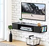 FITUEYES Meuble Télé avec Support pour Téléviseur de 47 à 55 Pouce Ecran LED avec Rangement pour DVD CD AV Equipement DS210003WB