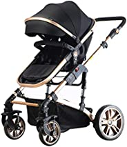 Teknum 3in1 Pram Stroller|Sleeping Bassinet|Extra Wide Seat|Wide Canopy|360° Rotating Wheels|Fully Recylinable
