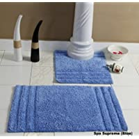 Homescapes Set de 2 Alfombras de baño SPA con Motivo Liso 50 x 80 cm Color