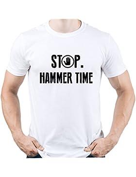 EUGINE DREAM Stop Hammer Time Shirt Hip Hop Dancer Camiseta Para Hombre