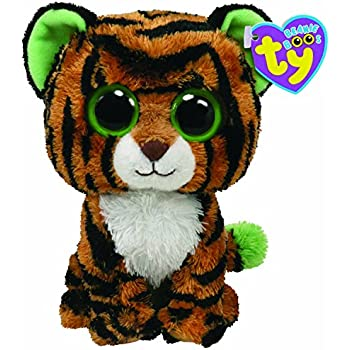 Ty Stripes Buddy Beanie Boos 7136911 Soft Toy Tiger Large 21.5 cm