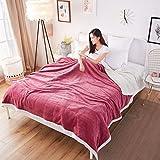 YAOHAOHAO Bean Sand Farbe Double Layer Verdickung Decke warm halten Bettwäsche Flanell Quilt Kind Erwachsener (Größe: 200 * 230 cm)