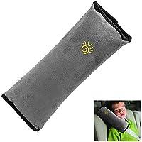 Surfmalleu Almohadillas de Cinturón de Seguridad Descoser del Coche Automóvil Desmontable Protección Hombro Ajuste Arnés de Soporte de la Cabeza Niño