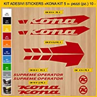 Kit Pegatinas Stickers Bicicleta KONA SUPREME OPERATOR - KIT 5-10 piezas- Bike Cycle