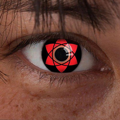aricona Kontaktlinsen Farblinsen Farbige Kontaktlinse Uchiha Sasuke   - Deckende, farbige Jahreslinsen für dunkle und helle Augenfarben ohne Stärke