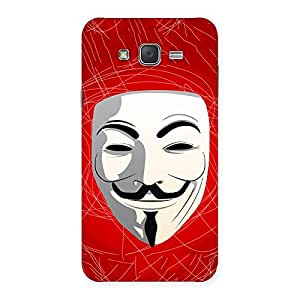 Impressive Red Anonymous Mask Back Case Cover for Galaxy J7