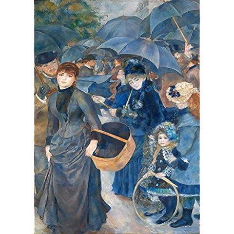 Pierre Auguste Renoir: gli ombrelli. Stampa Fine Art/Poster. Large Size A1(84.1cm X 59,4cm)