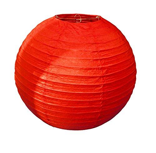 12 Tamaño Linterna papel rojo chino grande 40.68cm