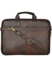 Leather Laptop Bags For Man And Woman 15.6 Inch,OfficePure Leather Laptop Messanger Bag By AIROCRATE - B0762RY1PD