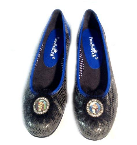 PantoffelDIVA , Low-top femme Noir - Schwarz-Marineblau Blau