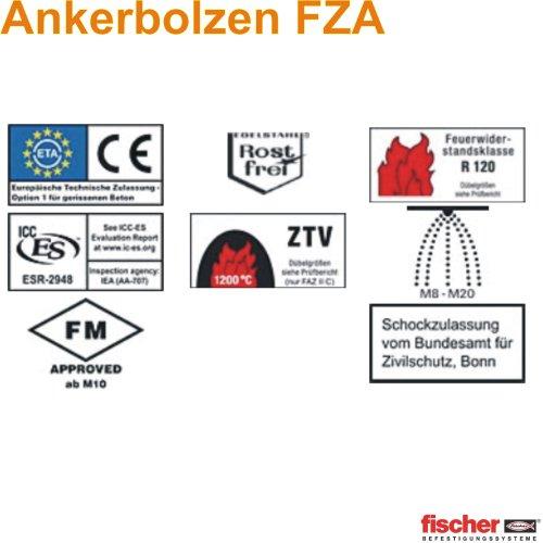 Qualitäts-Ankerbolzen (FAZ II8/10 E für gleichmässige Lastenverteilung, leichte Montage, 1Stk.)