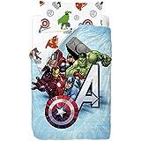 Marvel Vengadores - Saco nórdico de 2 piezas para cama de 90 cm