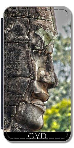 Coque pour Iphone 5/5S - Tête Sculptée Angkor Au Cambodge by Brian Raggatt Simili-Cuir