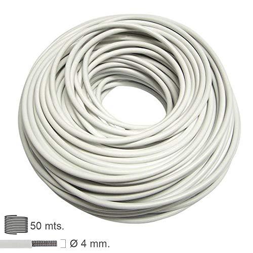 Oryx 1010090 - Alambre espiral visillo forrado (rollo 50 metros)