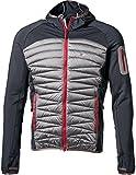 Yeti Clive Hybrid Down Hoodie Jacket Men Antracite/Gull Grey Größe S 2017 Funktionsjacke