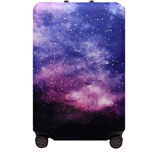 Bestja Elastisch Reise Kofferschutzhülle Abdeckung Waschbar Kofferhülle Schutz Bezug Luggage Cover für 18-32 Zoll Koffer (Nebel, XL)