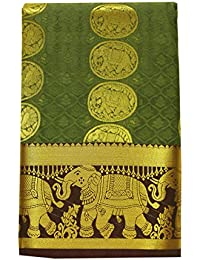 Saravanabava Silks - Kanchipuram Silks Sarees Elephant Border (Art Silk Empossed Butta SRBS01212 )
