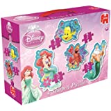 Disney Princess 4-in-1 Ariel Shaped Jigsaw Puzzles