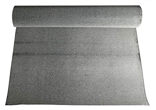 Bitumen - Dachpappe 10 m² schwarz besandet Bitumenbahn Rolle 10x1 m