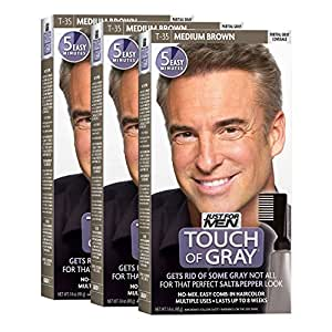Just For Men Touch Of Gray Medium Brown-Gray 1 Application (Pack of 3)