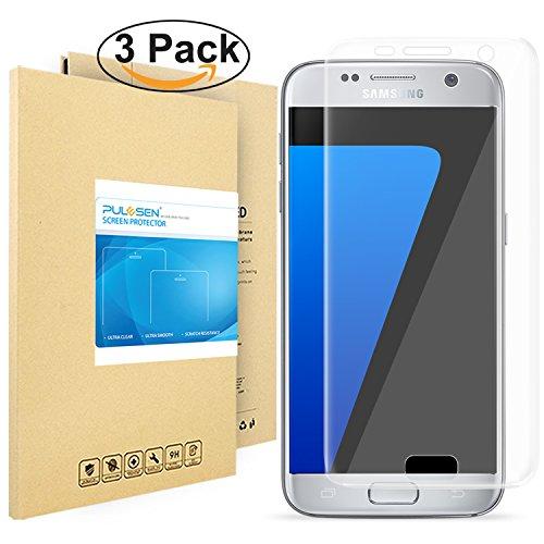 Galaxy S7 Schutzfolie, Pulesen® [3 Stück] [Nicht für S7 Edge] Samsung Galaxy S7 Folie [Upgrade Version] [HD Klare, Blasenfreie] Displayschutzfolie Displayschutz Screen Protector für galaxy S7